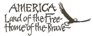 AMERICA Home Of The Brave Eagle Wood Mounted Rubber Stamp NORTHWOODS D1185 New