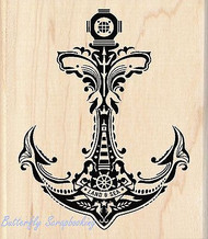 ANCHOR Mindscape Nautical Wood Mounted Rubber Stamp by INKADINKADO 60-01054 NEW