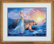 Aurora Polar Bear Fairy Counted Cross Stitch Dimensions Cross Stitch Kit NEW