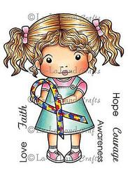Awareness Marci Stamp Set Cling Unmounted Rubber Stamp La La Land Crafts 5200 Ne