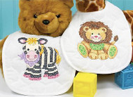 Baby Bibs Stamped Cross Stitch Kit Dimensions 73429 Cross Stitch Kit 2 Bibs NEW