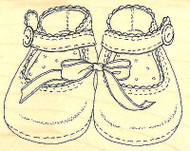 Baby Girl Shoes Wood Mounted Rubber Stamp Impression Obsession Stamp E6117 NEW