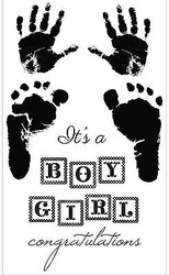 BABY PITTER PATTER Collection Clear Unmounted Rubber Stamp Set Kaisercraft CS179
