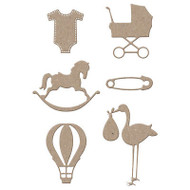 BABY SET 8 Dies Creative Steel Dies & Magnetic Storage LITTLE B 100389 NEW