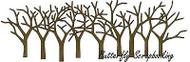 Bare Tree Border Craft Steel Die Cutting Die Impression Obsession DIE309-Y New