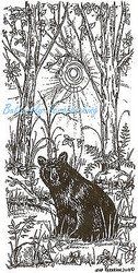 Bear In The Woods Wood Mounted Rubber Stamp Northwoods Rubber Stamp New