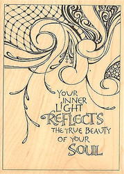 Beauty Of Your Soul Wood Mounted Rubber Stamp IMPRESSION OBSESSION H15054 New