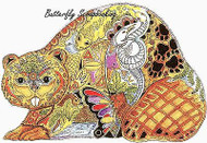 BEAVER Animal Spirit Cling Unmounted Rubber Stamp EARTH ART Sue Coccia New