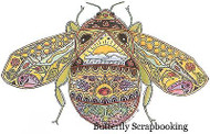 BEE Animal Spirit Cling Unmounted Rubber Stamp EARTH ART Sue Coccia New