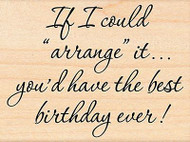 Best Birthday, Wood Mounted Rubber Stamp PENNY BLACK - NEW, 4393F