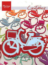 Bicycle with Basket Craft Steel Die by Marianne Design Creatables Die LR0233 New