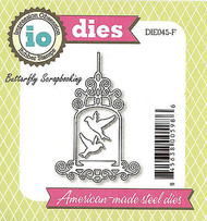 Bird Bath Cage American made Steel Dies by Impression Obsession DIE045-F New