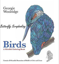 BIRDS A Mindful Coloring Book For Markers & Watercolors & Pencils 80 Pages New