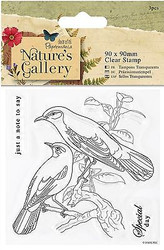 BIRDS NATURES GALLERY Clear Unmounted Rubber Stamps Set DOCRAFTS PMA 907226 New