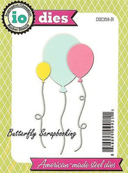 BIRTHDAY BALLOON SET Die Cutting Dies Impression Obsession DIE359-R New