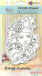 Bloom Girl Paige Stamp PRIMA MARKETING Cling Unmounted Rubber Stamp 980054 New