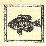 Blue Gill In Frame, Wood Mounted Rubber Stamp NORTHWOODS - NEW, CC9740