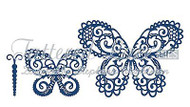 BUILD A BUTTERFLY Set DIES Craft Die Cutting Die Tattered Lace Dies D654 New