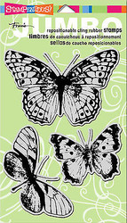 Butterfly Butterflies Unmounted Cling Rubber Stamps Set Stampendous CRS5044 NEW