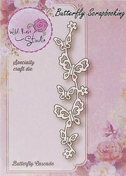 Butterfly Cascade Creative Steel Die Cutting Dies WILD ROSE STUDIO SD038 New