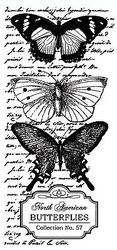 BUTTERFLY Collage Small Stamp Clear Unmounted Rubber Stamp TECHNIQUE TUESDAY New
