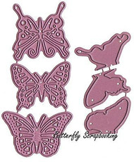 Butterfly Dollies Exotic Dies US made Steel Die Cheery Lynn Designs DL 112AB New