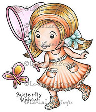 Butterfly Marci Stamp Set Cling Unmounted Rubber Stamp La La Land Crafts 5221 Ne