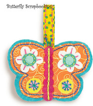 BUTTERFLY Ornament Embroidery Kit by Dimensions 72-73602 NEW