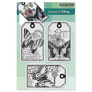 Butterfly Party, Cling Style Unmounted Rubber Stamps PENNY BLACK - NEW, 40-328