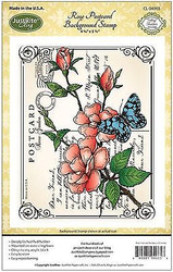 BUTTERFLY POSTCARD Cling Unmounted Rubber Stamp by JustRight CL-04965 NEW
