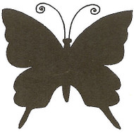 Butterfly Silhouette Full Wood Mounted Rubber Stamp Northwoods Rubber Stamp New