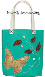 BUTTERFLY TOTE Feltworks Fun Embroidery Kit Dimensions