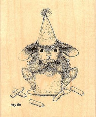 Cake Nibbler HAPPY HOPPERS Wood Mounted Rubber Stamp STAMPENDOUS, NEW - HHV05