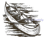 Canoe Small Wood Mounted Rubber Stamp NORTHWOODS C9543 New