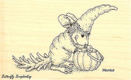 Carrot Costume HOUSE MOUSE Wood Mounted Rubber Stamp STAMPENDOUS, NEW - HMM05