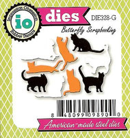 Cat Set MINI Tiny 9 Cats Die Cutting Dies by Impression Obsession DIE328-G New