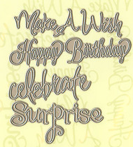 Celebration Expressions Text, Creative Steel Dies PENNY BLACK - NEW, 51-028