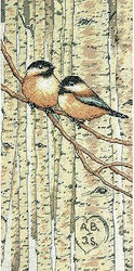 Chickadees LOVE BIRDS Counted Cross Stitch Kit Dimensions 70-35277 NEW