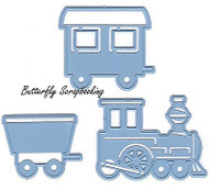 CHOO CHOO TRAIN Die Cutting Dies Marianne Design Creatables Die LR0308 New