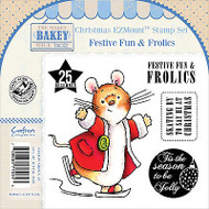 CHRISTMAS Mouse Unmounted Rubber Stamps Set MAKEY BAKEY MICE MBM-C-FFUN-EZ New