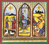 CHRISTMAS Nativity Panel Scene Wood Mounted Rubber Stamp NORTHWOODS P9894 New
