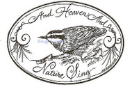 Christmas Nuthatch In Oval, Wood Mounted Rubber Stamp NORTHWOODS - NEW, P9303