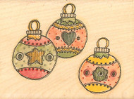 CHRISTMAS ORNAMENT Mounted Rubber Stamp Whipper Snapper