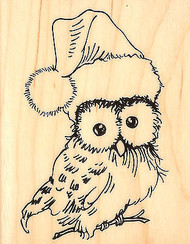 Christmas OWL Wood Mounted Rubber Stamp STAMPENDOUS Stamp V302 New
