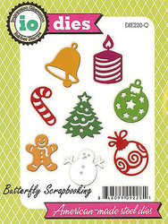 Christmas Set Die Cutting Dies 8 Christmas Die Impression Obsession DIE220-Q New