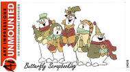 Christmas Snowman Carolers Cling Unmounted Rubber Stamp Art Impressions 4316 NEW