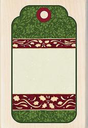 Christmas Tag Susan Winget Wood Mounted Rubber Stamp INKADINKADO New