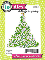 Christmas Tree Swirl American made Steel Dies Impression Obsession DIE091-P New