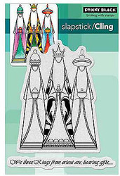 Christmas We Three Kings Set 2 Unmounted Rubber Stamps PENNY BLACK 40-347 New