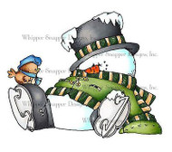 CHRISTMAS WINTER SNOWMAN Unmounted Rubber Stamp Whipper Snapper Design LY898 NEW